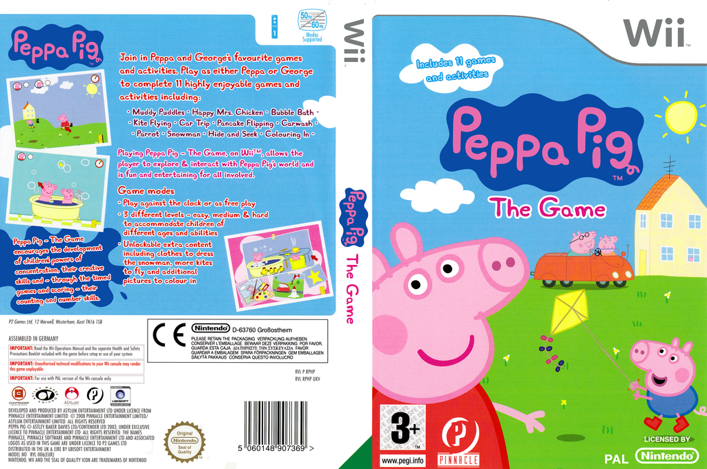 Peppa Pig: The Game Wii coverfullHQ (RPHPPN)