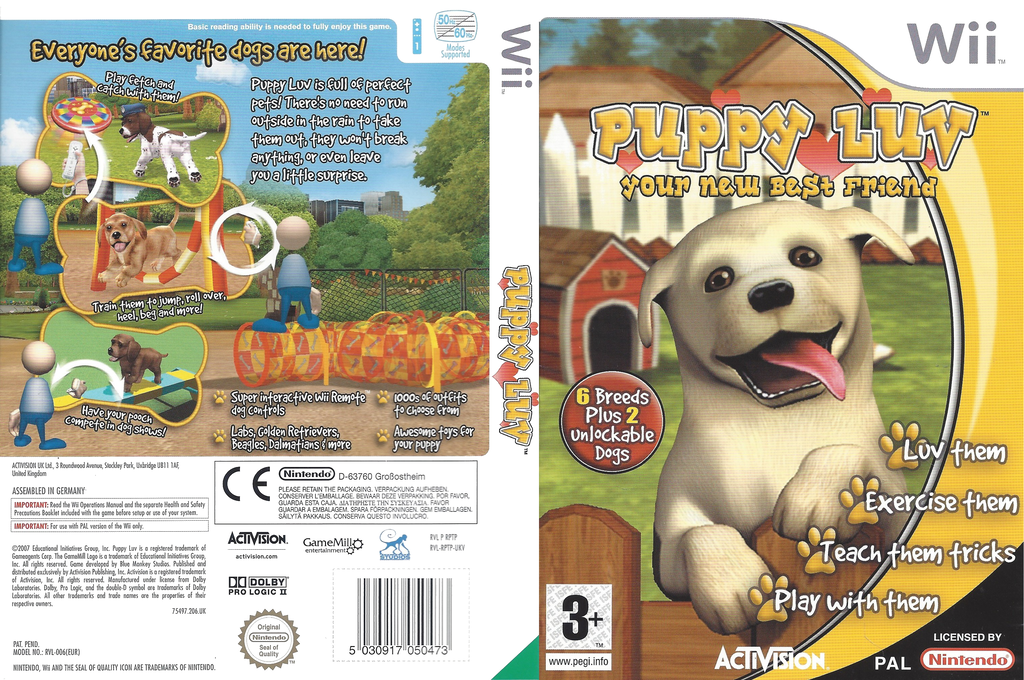 Puppy Luv: Your New Best Friend Wii coverfullHQ (RPTP52)