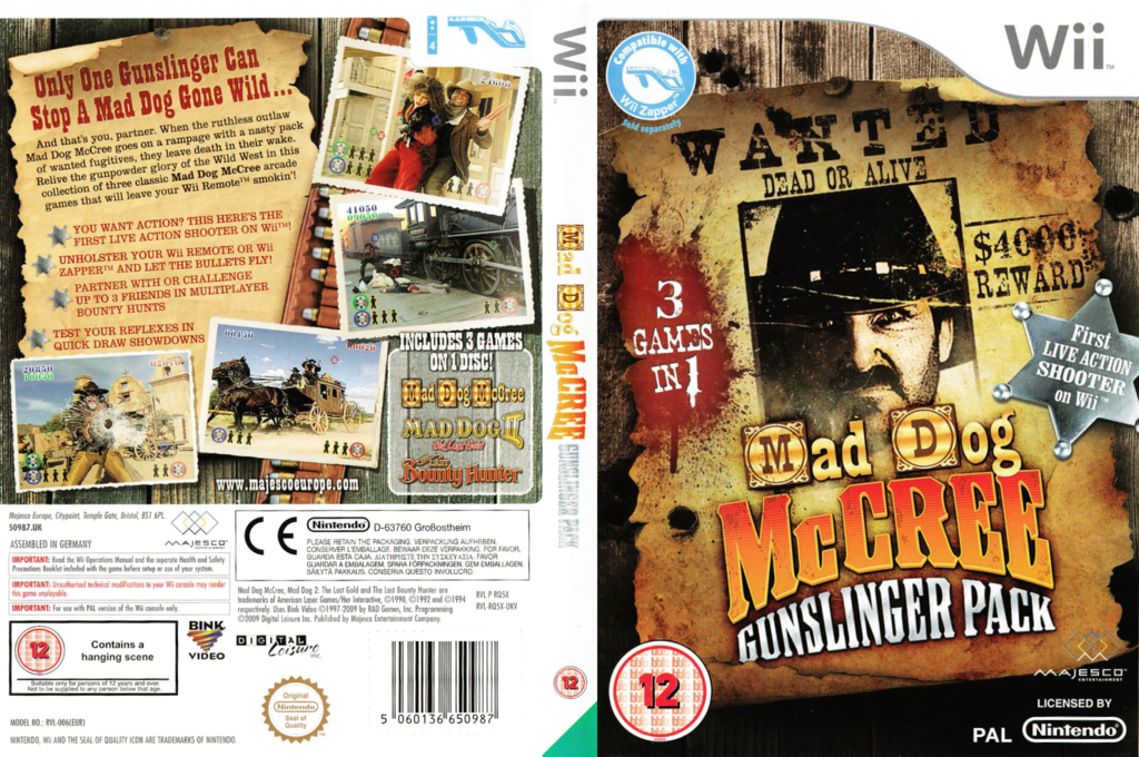 Mad Dog McCree Gunslinger Pack Wii coverfullHQ (RQ5X5G)
