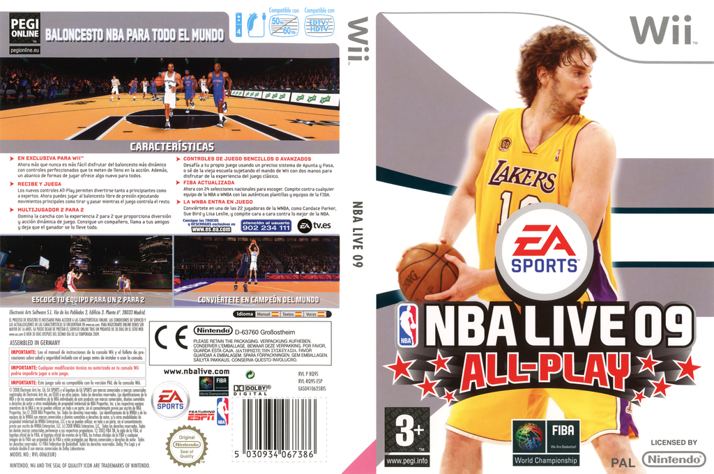 NBA Live 09 All-Play Wii coverfullHQ (RQ9S69)