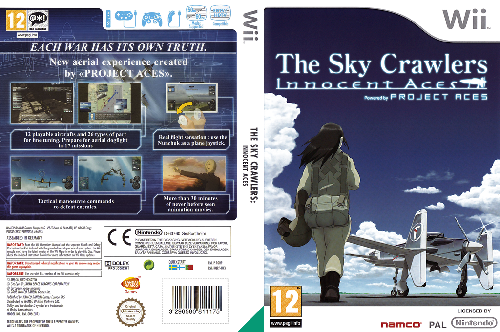 The Sky Crawlers: Innocent Aces Wii coverfullHQ (RQRPAF)