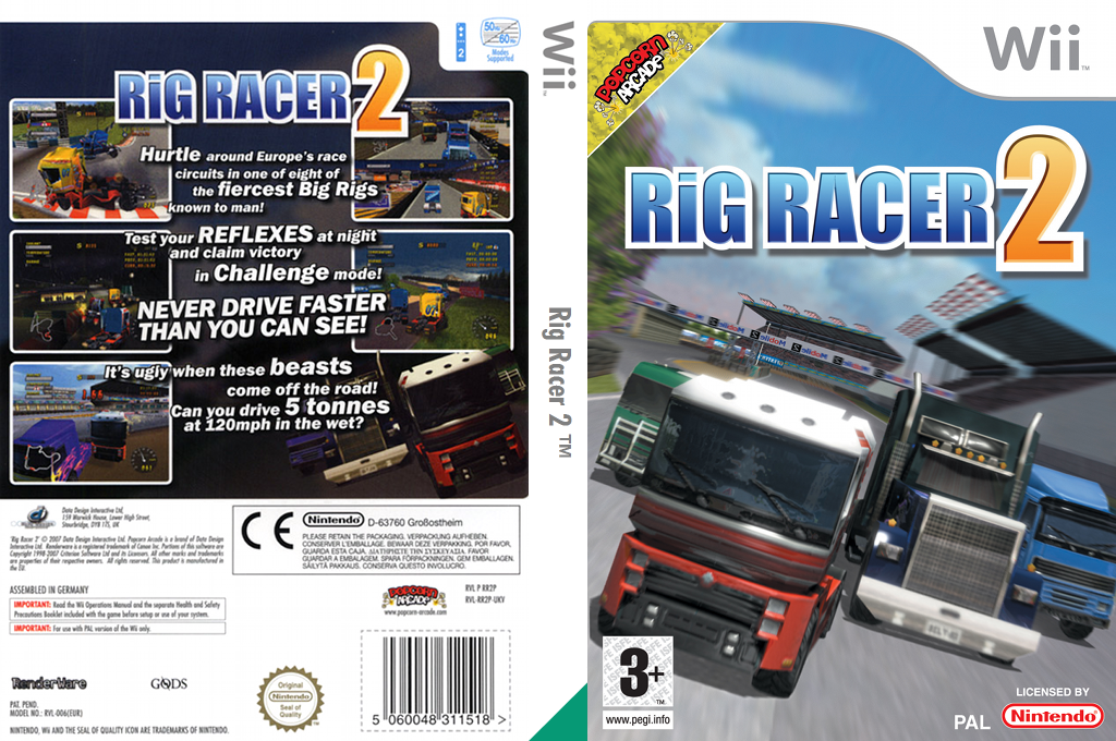 Rig Racer 2 Wii coverfullHQ (RR2PUG)