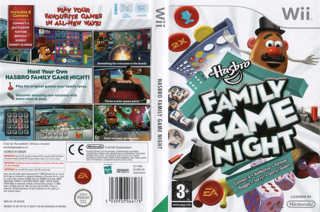 Hasbro: Family Game Night Wii coverfullHQ (RRMX69)