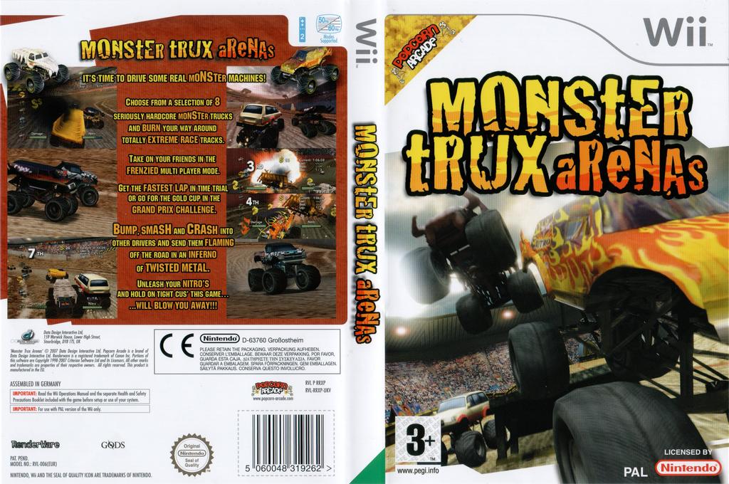 Monster Trux Arenas Wii coverfullHQ (RRXXUG)
