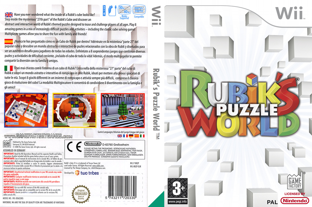 Rubik's Puzzle World Wii coverfullHQ (RRZPGY)