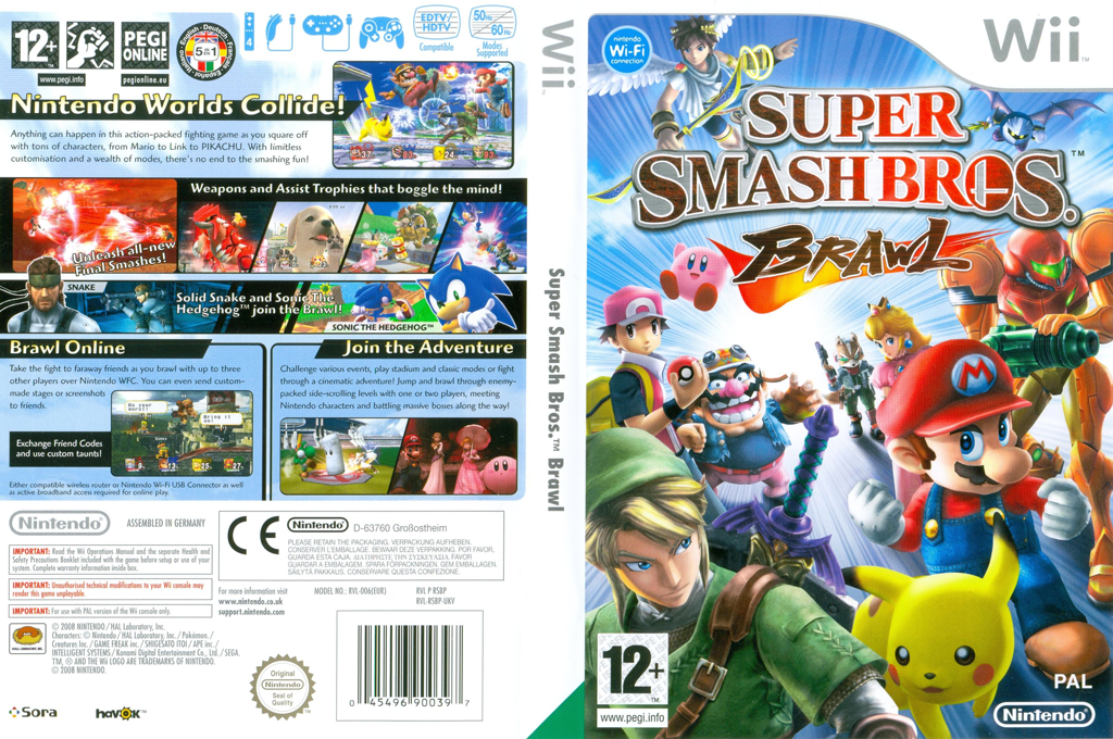 super smash bros iso wii