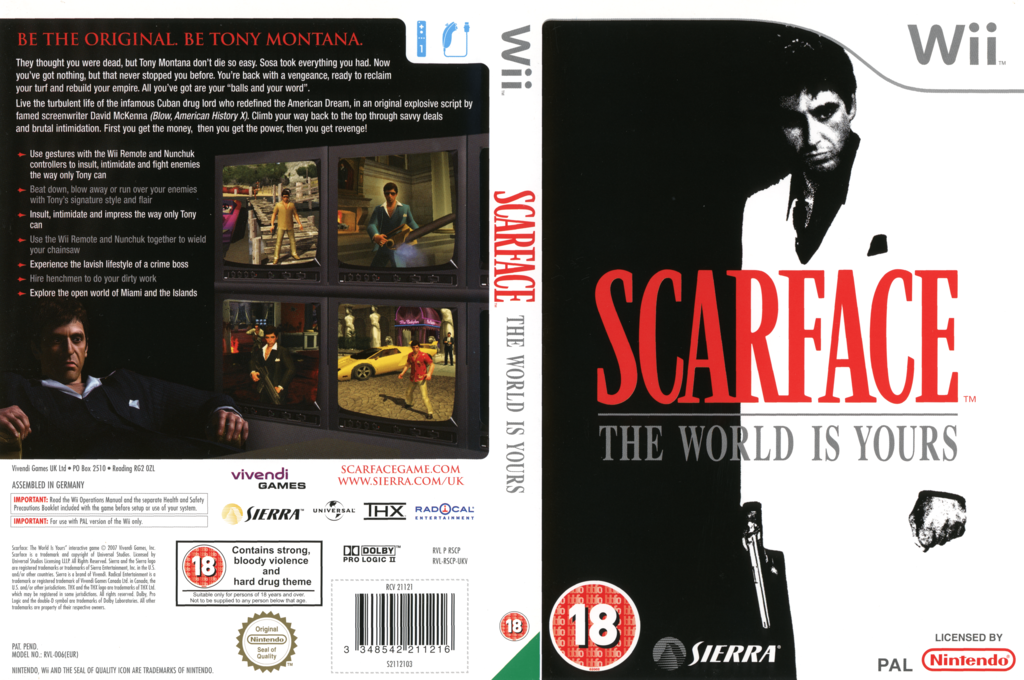 Scarface: The World Is Yours Wii coverfullHQ (RSCP7D)