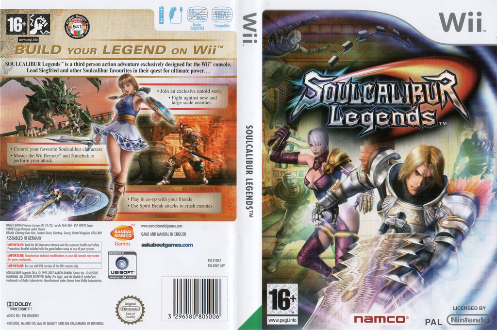 Soulcalibur: Legends Wii coverfullHQ (RSLPAF)