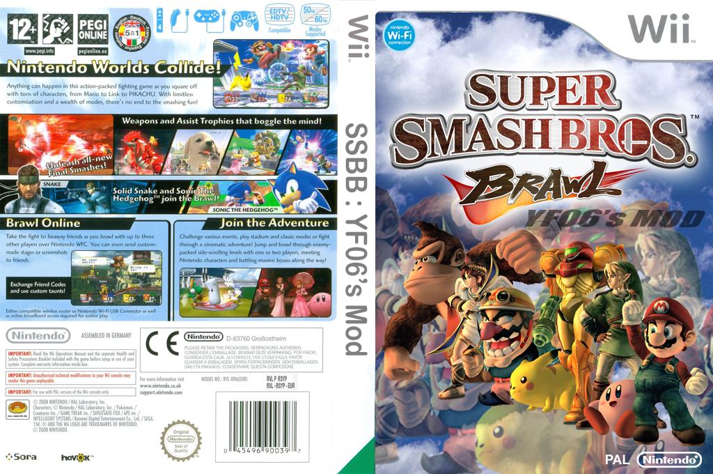 Super Smash Bros. Brawl:YF06's Mod Wii coverfullHQ (RSYP06)