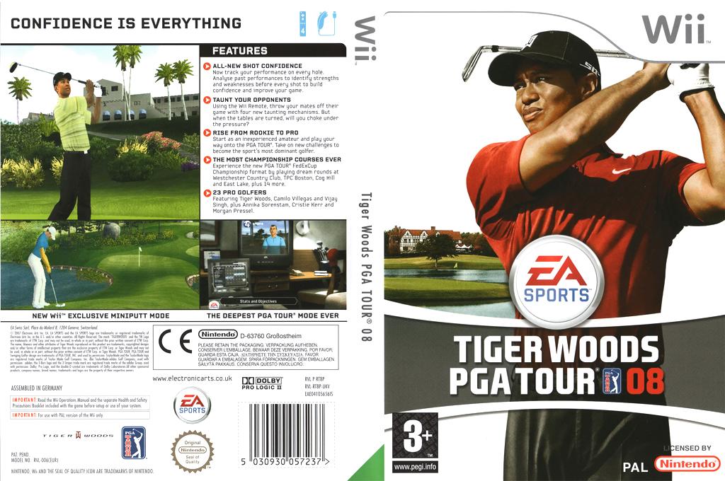 Tiger Woods PGA Tour 08 Wii coverfullHQ (RT8P69)