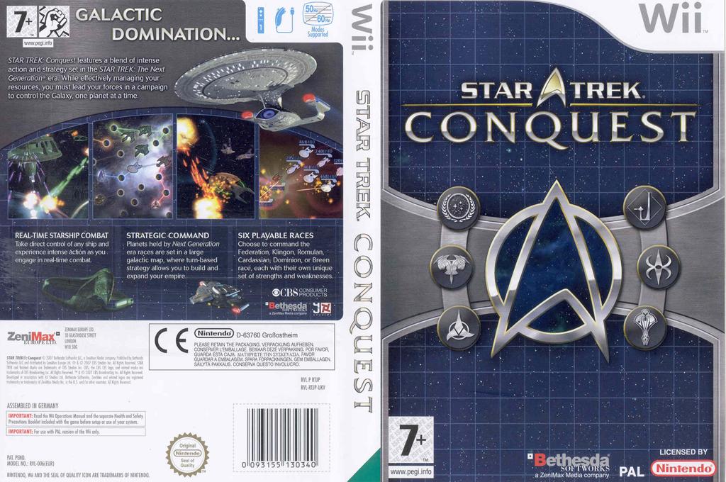 Star Trek: Conquest Wii coverfullHQ (RTJP68)