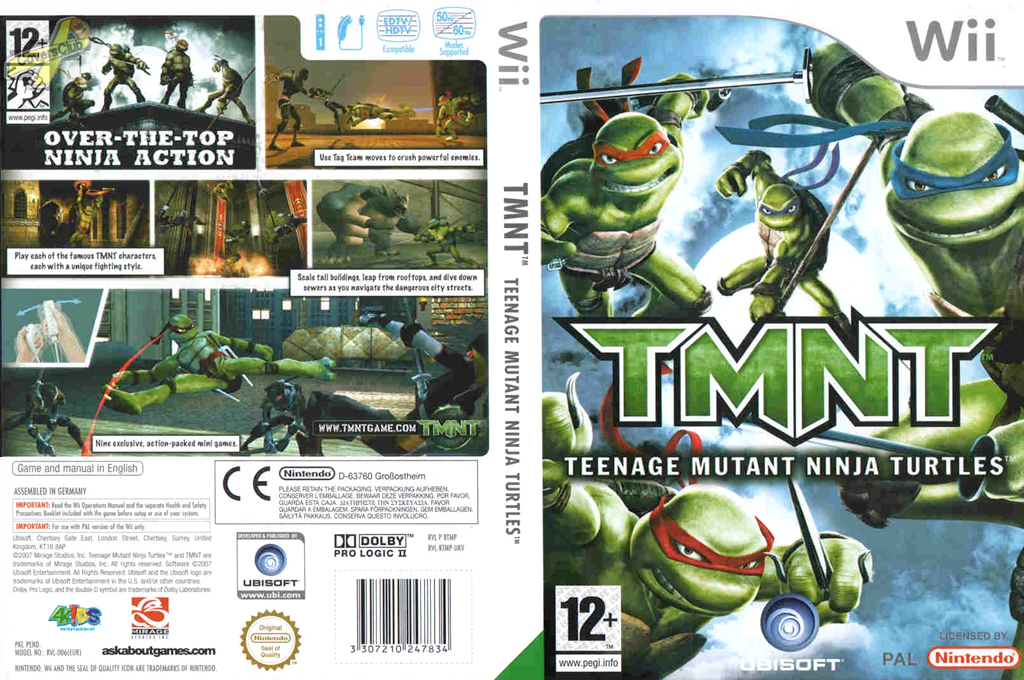 TMNT: Teenage Mutant Ninja Turtles Wii coverfullHQ (RTMP41)