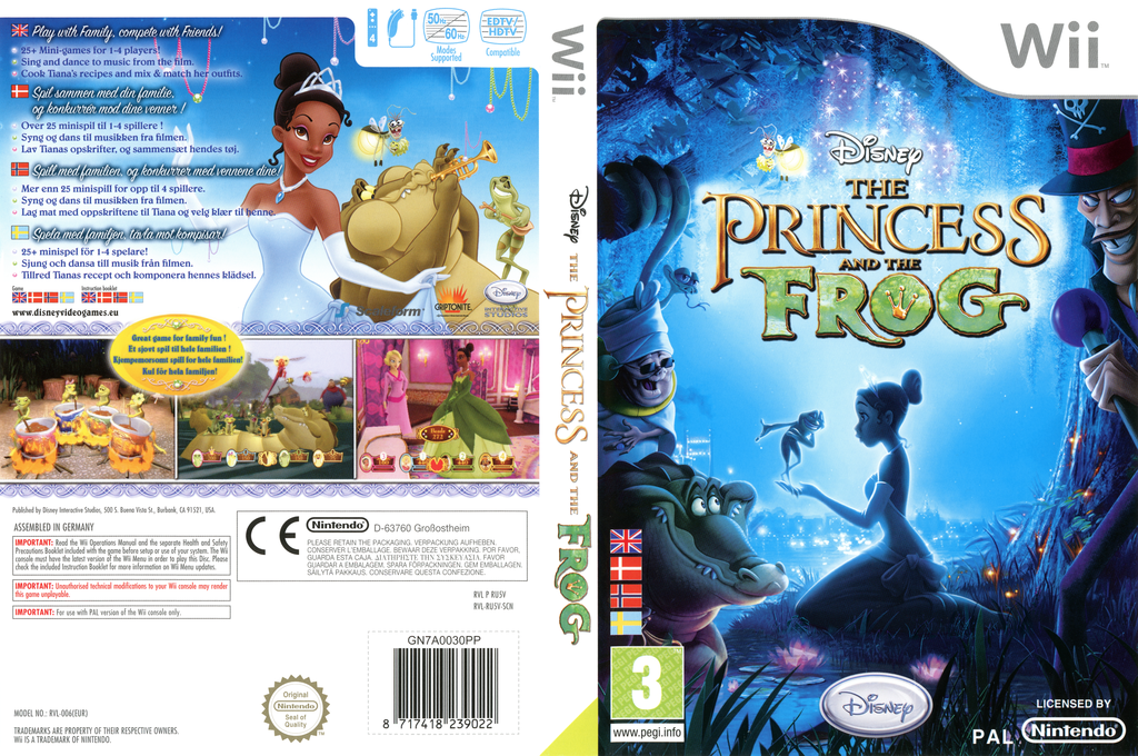 Disney: The Princess and the Frog Wii coverfullHQ (RU5V4Q)