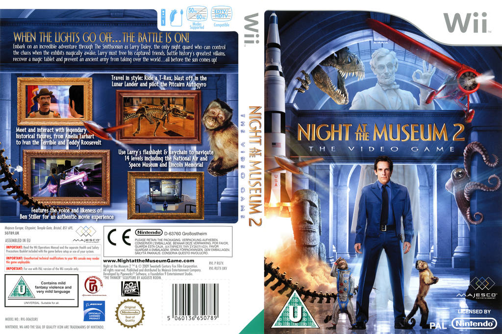 Night at the Museum: Battle of the Smithsonian - The Video Game Wii coverfullHQ (RU7X5G)