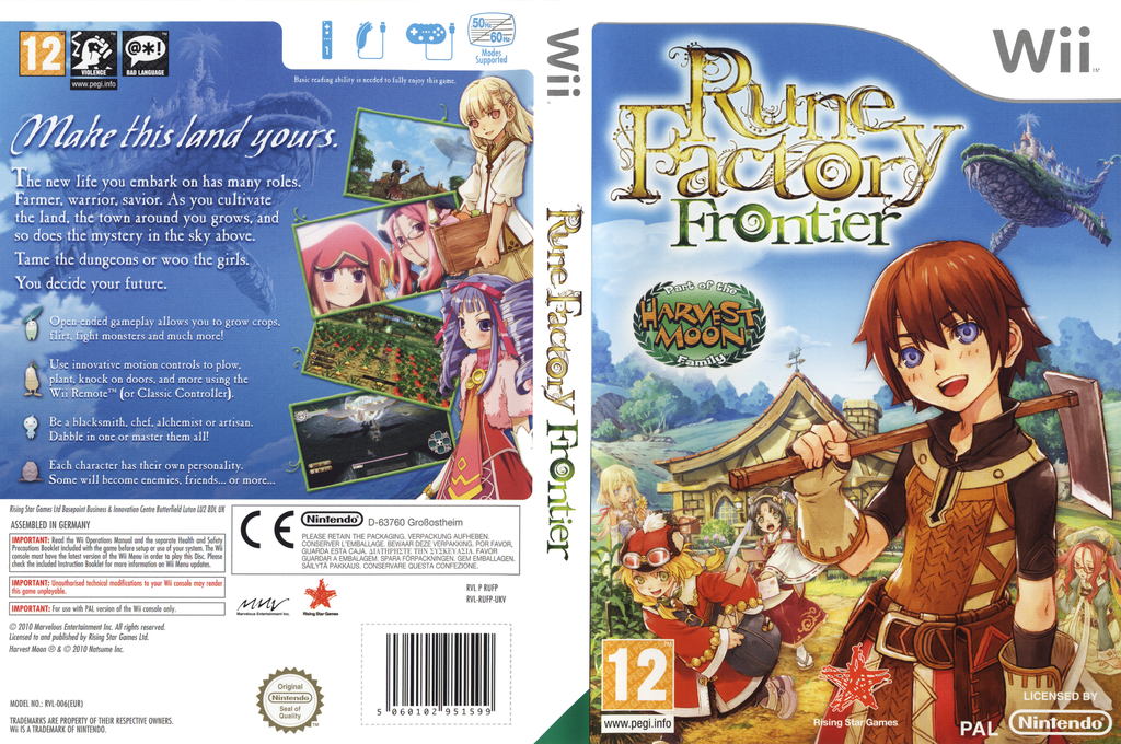 Rune Factory: Frontier Wii coverfullHQ (RUFP99)