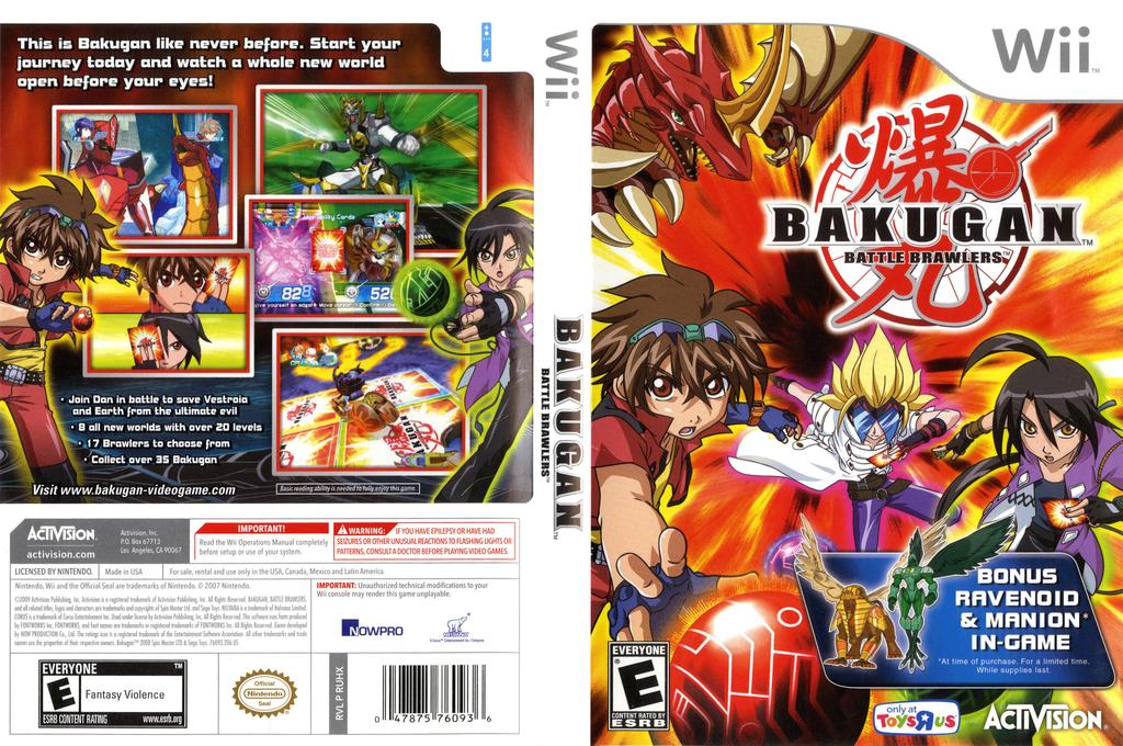 Bakugan Battle Brawlers (Toys R Us Edition) Wii coverfullHQ (RUHX52)