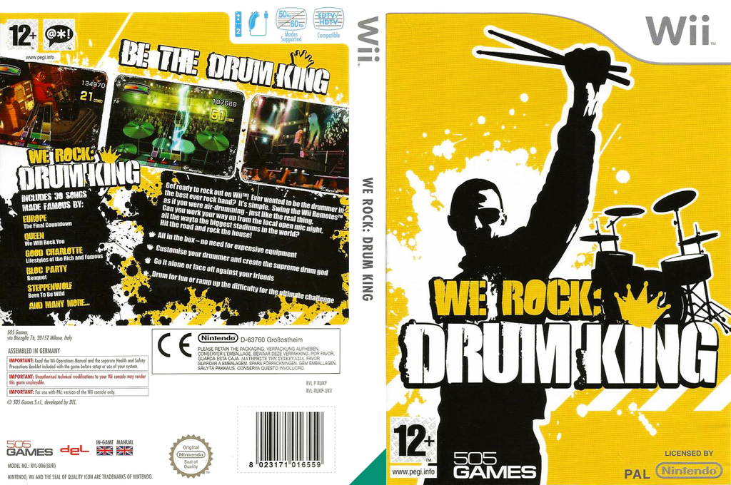 We Rock: Drum King Wii coverfullHQ (RUKPGT)