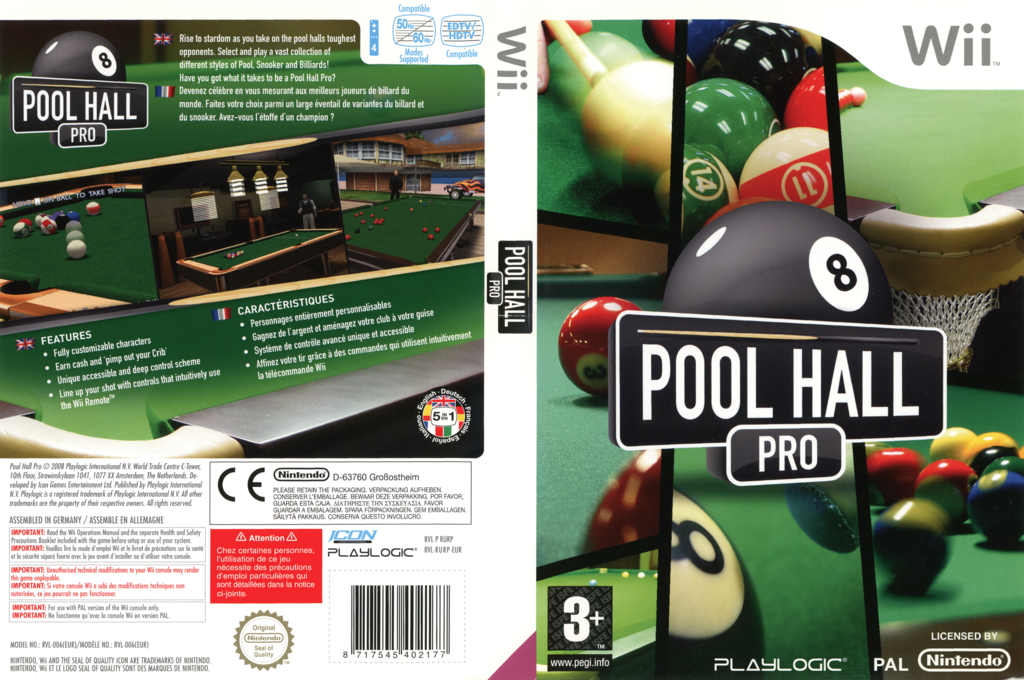 Pool Hall Pro Wii coverfullHQ (RURPPL)