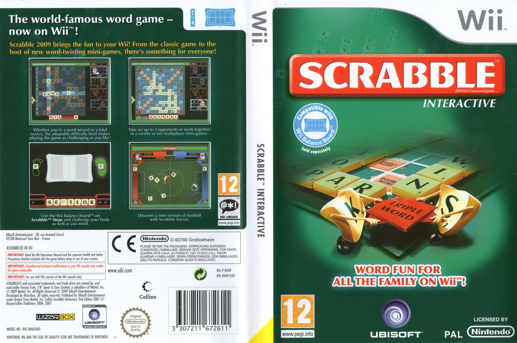 Scrabble Interactive: 2009 Edition Wii coverfullHQ (RVHP41)