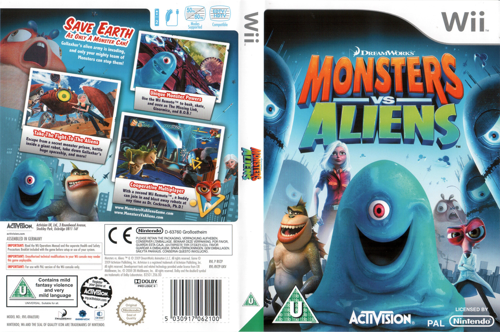 Monsters vs. Aliens Wii coverfullHQ (RVZP52)