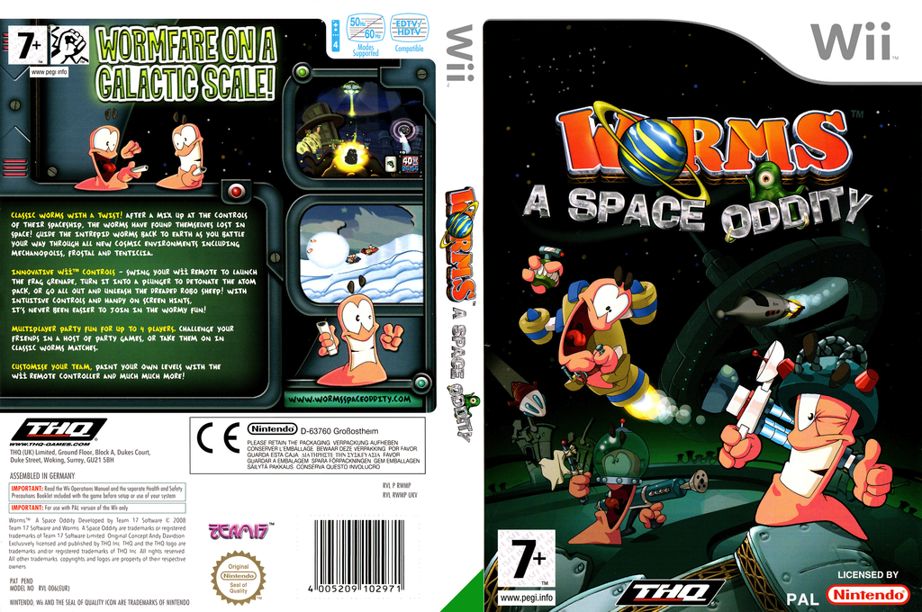 Worms: A Space Oddity Wii coverfullHQ (RWMP78)