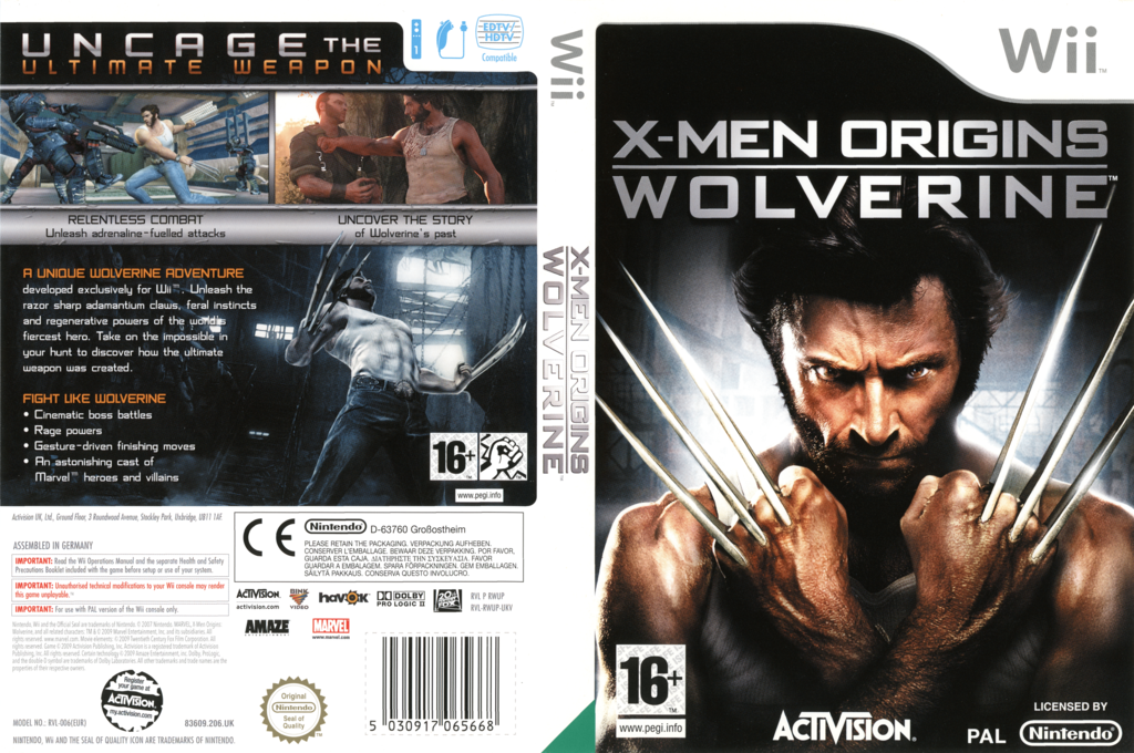 X-Men Origins: Wolverine Wii coverfullHQ (RWUP52)