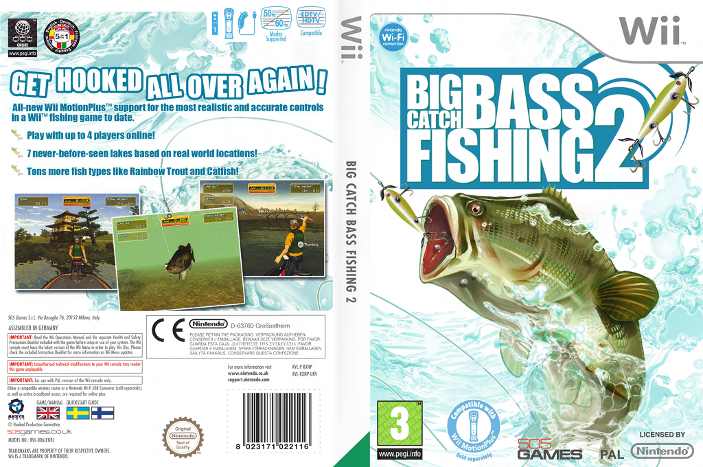 Big Catch Bass Fishing 2 Wii coverfullHQ (RXNPGT)