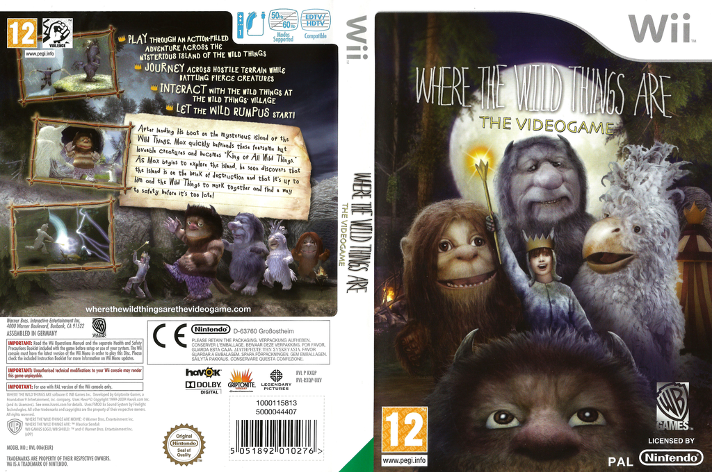 Where the Wild Things Are Wii coverfullHQ (RXQPWR)