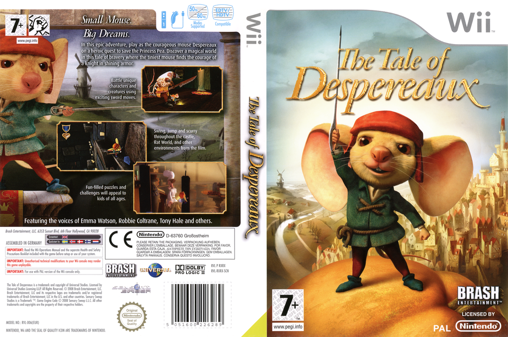 The Tale of Despereaux Wii coverfullHQ (RXRXRS)