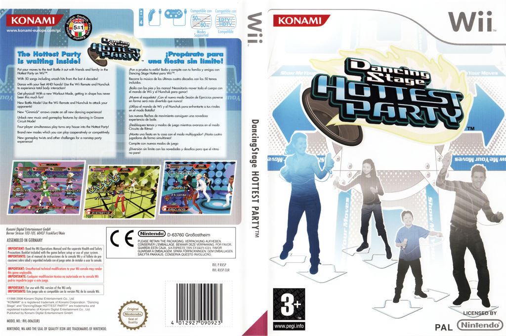 Dancing Stage: Hottest Party Wii coverfullHQ (RXSPA4)