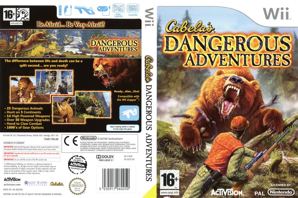 Cabela's Dangerous Adventures Wii coverfullHQ (RXZP52)