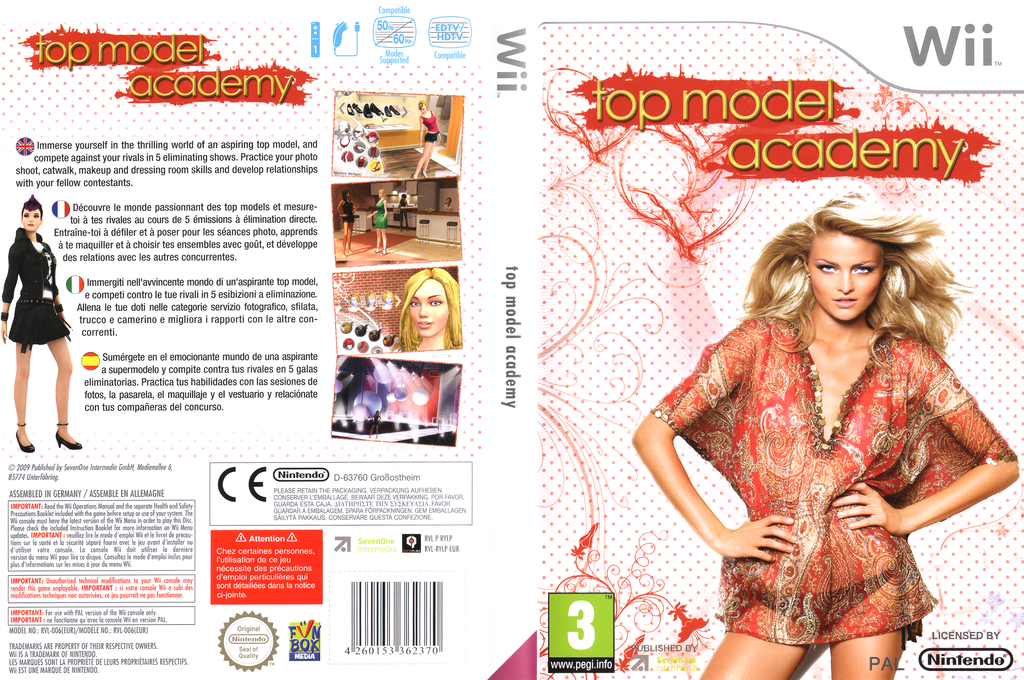 Top Model Academy Wii coverfullHQ (RYLPSV)