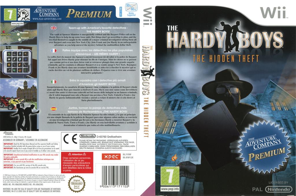 The Hardy Boys: The Hidden Theft Wii coverfullHQ (RYNP6V)