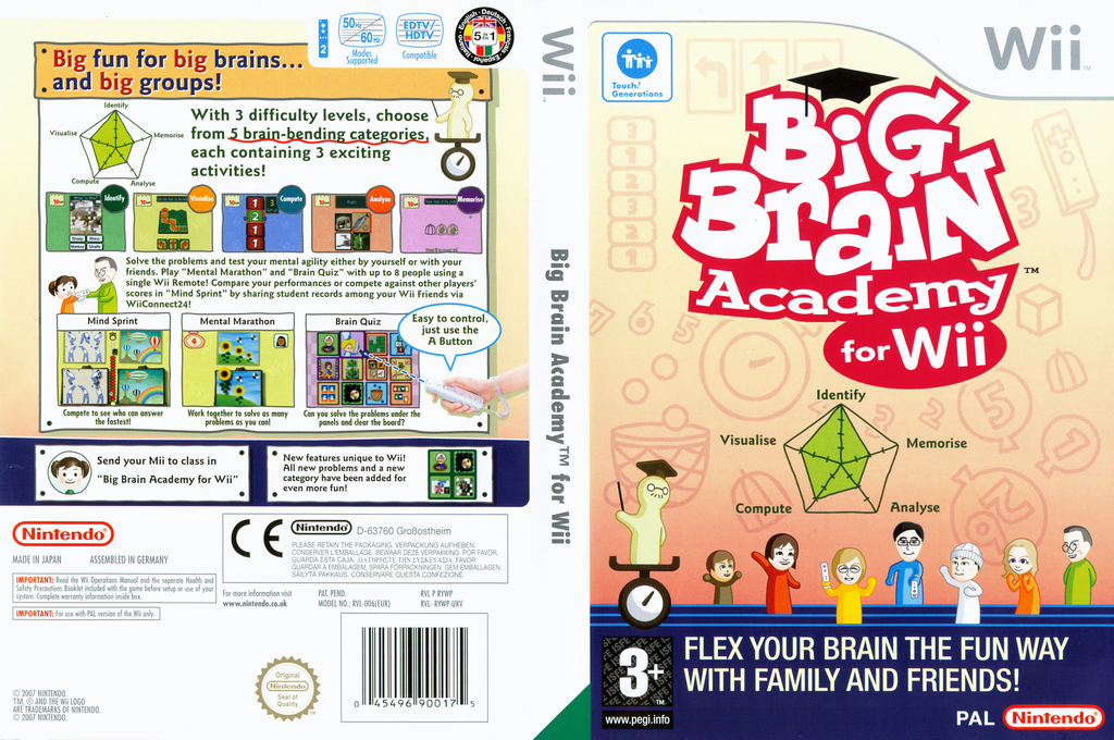 Big Brain Academy for Wii Wii coverfullHQ (RYWP01)