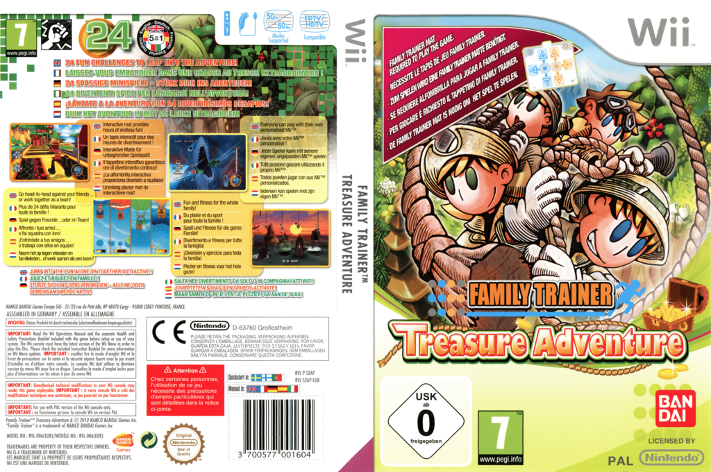 Family Trainer: Treasure Adventure Wii coverfullHQ (S2APAF)