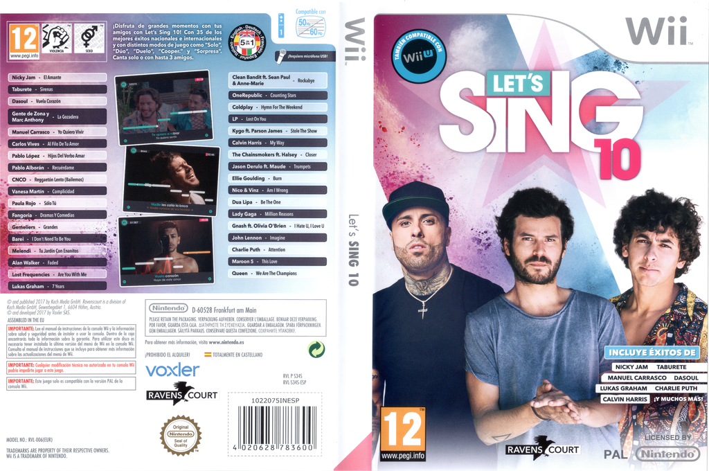 Let's Sing 10 Wii coverfullHQ (S34SKM)