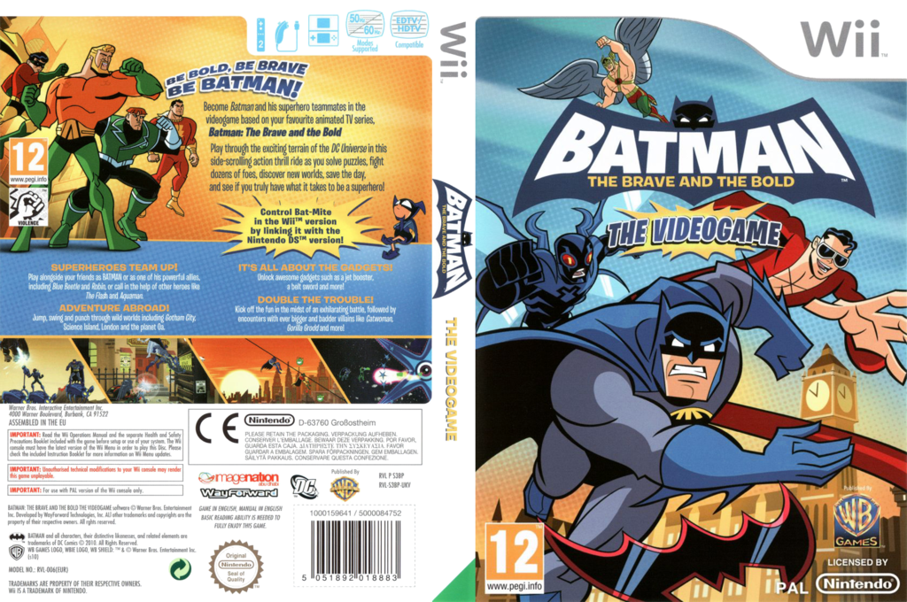 Batman: The Brave and the Bold Wii coverfullHQ (S3BPWR)