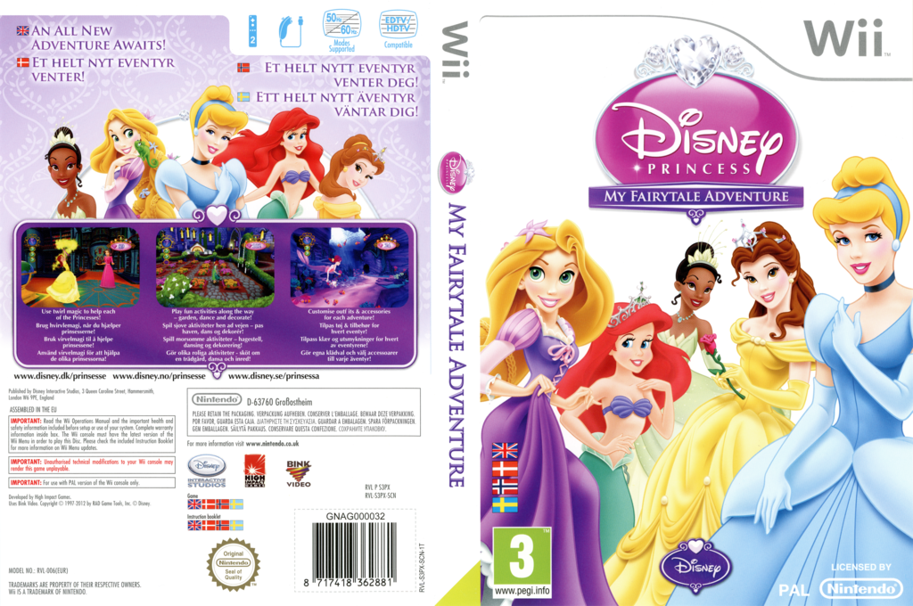 Disney Princess: My Fairytale Adventure Wii coverfullHQ (S3PX4Q)