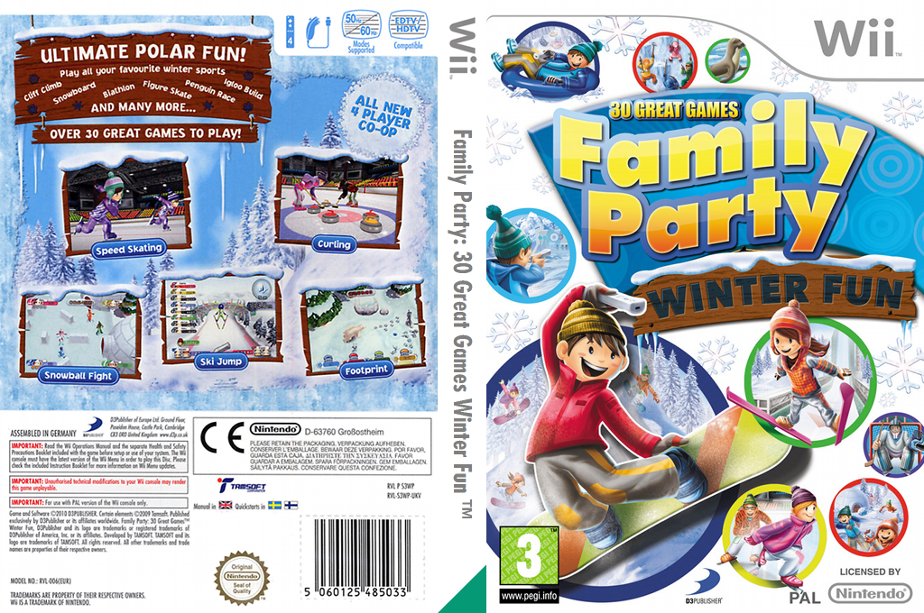 Family Party: 30 Great Games Winter Fun Wii coverfullHQ (S3WPG9)