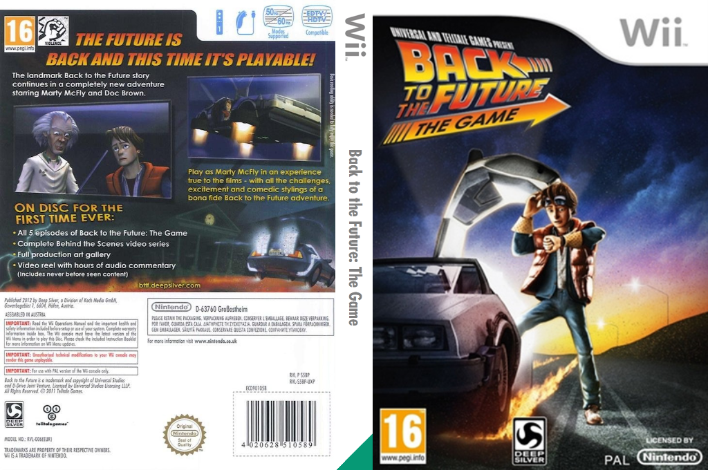 Back to the Future: The Game Wii coverfullHQ (S5BPKM)
