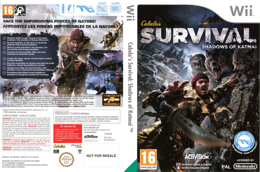 Cabela's Survival: Shadows of Katmai Wii coverfullHQ (SAJP52)