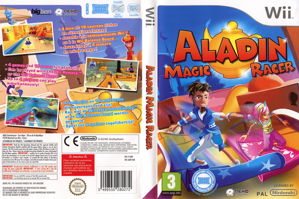 Aladin: Magic Racer Wii coverfullHQ (SARPNK)