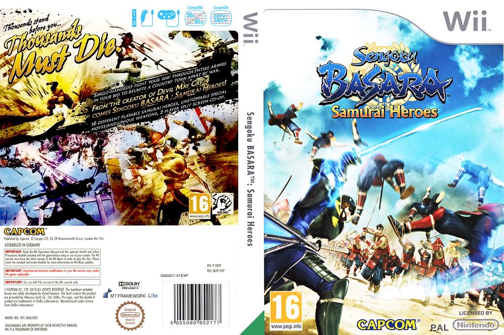 Sengoku Basara: Samurai Heroes Wii coverfullHQ (SB3P08)