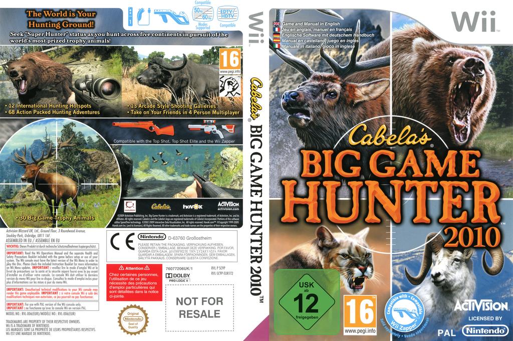 Cabela's Big Game Hunter 2010 Wii coverfullHQ (SC9P52)