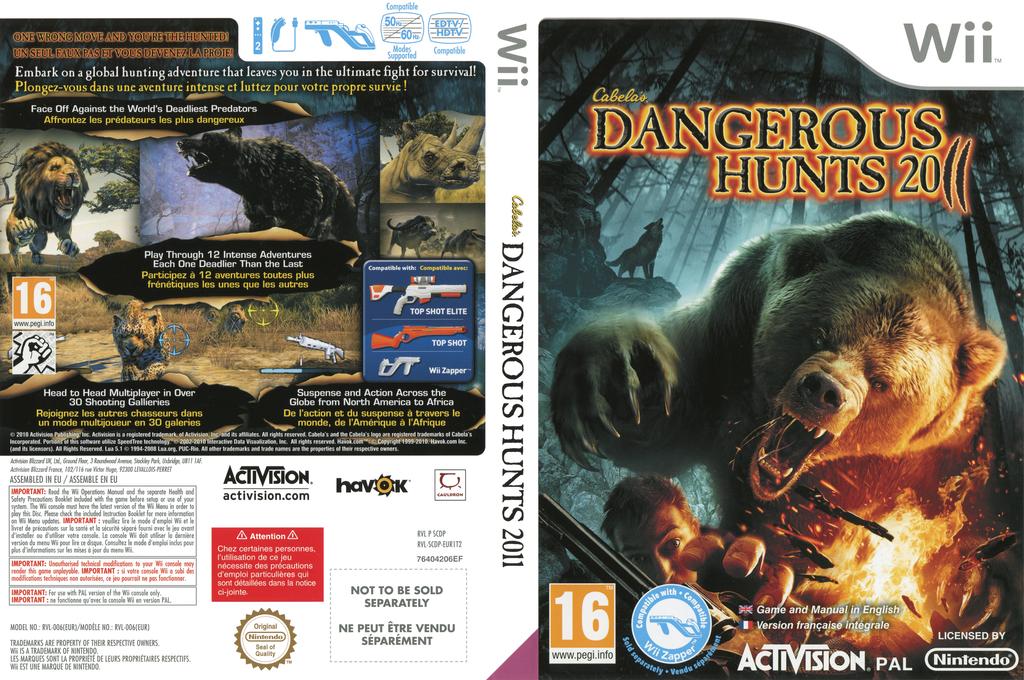Cabela's Dangerous Hunts 2011 Wii coverfullHQ (SCDP52)