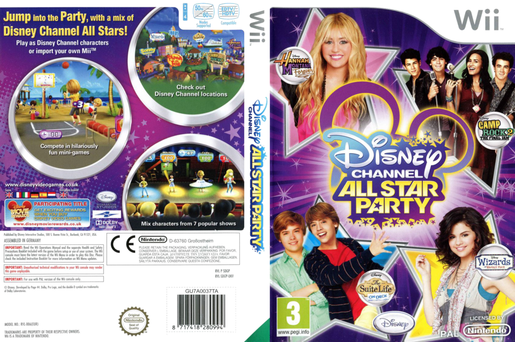 Disney Channel: All Star Party Wii coverfullHQ (SDGP4Q)