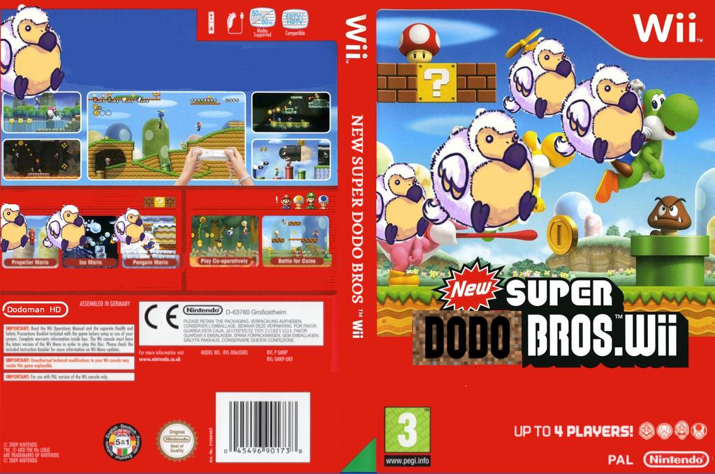 New SUPER DODO BROS Wii coverfullHQ (SDNP01)
