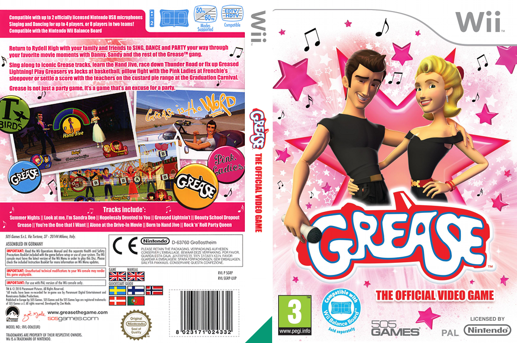 Grease Wii coverfullHQ (SGRPGT)