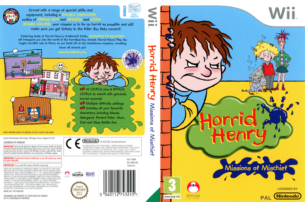 Horrid Henry: Missions of Mischief Wii coverfullHQ (SHMPLR)