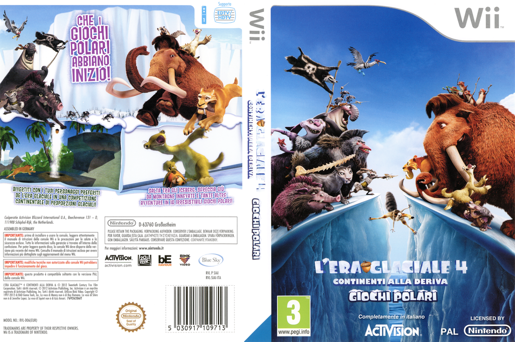 Ice Age: Continental Drift: Arctic Games Wii coverfullHQ (SIAI52)